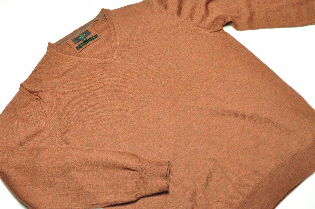 ATT sweter J by Jasper Conran merino brązowy r. L