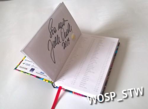 Kalendarzy kieszonkowy + autograf Jurka