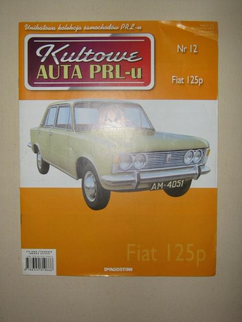 Kultowe auta PRL-u Fiat 125P gazetka