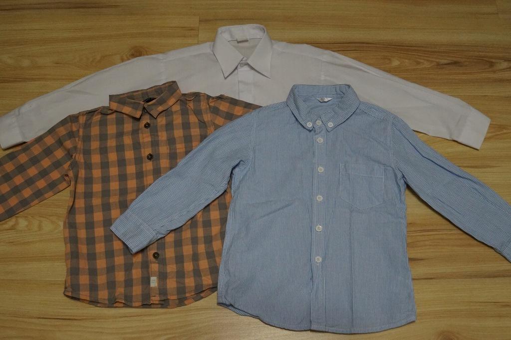 3 koszule chłopięce 104cm