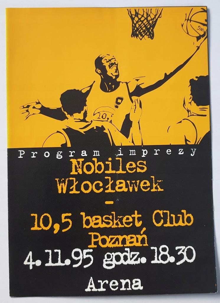 PROGRAM 10,5 BASKET CLUB - NOBILES WŁOCŁAWEK 1995