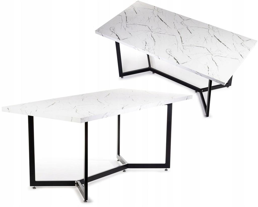Biały drewniany stół stolik konferencyjny do firmy
