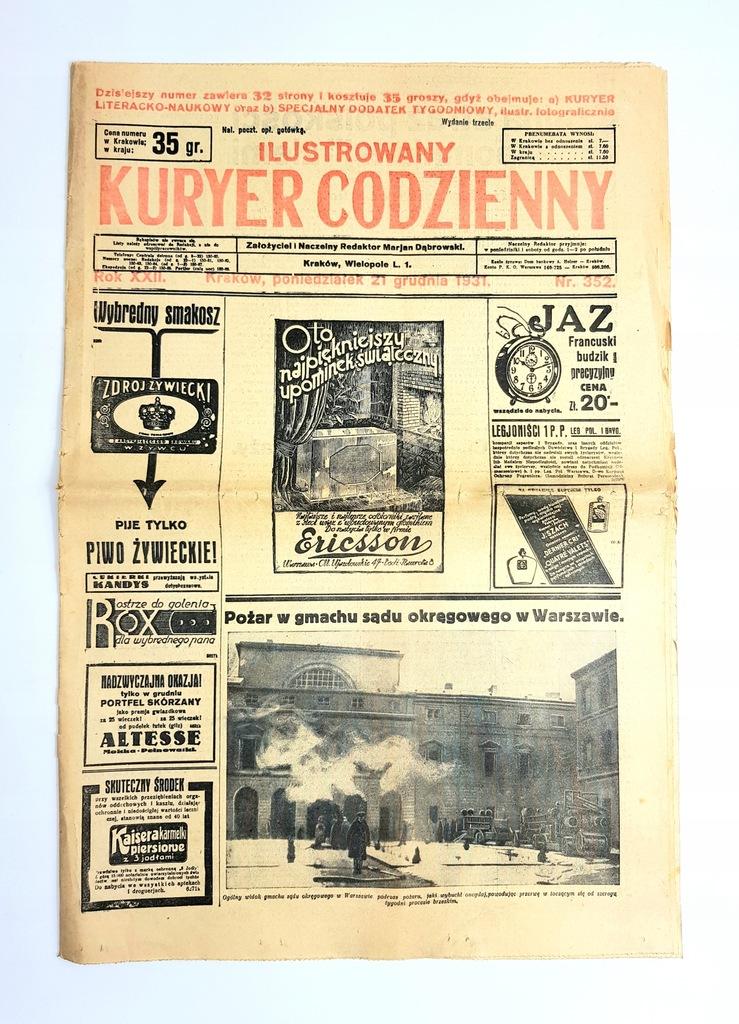Ilustrowany Kuryer Codzienny Nr 352 1931