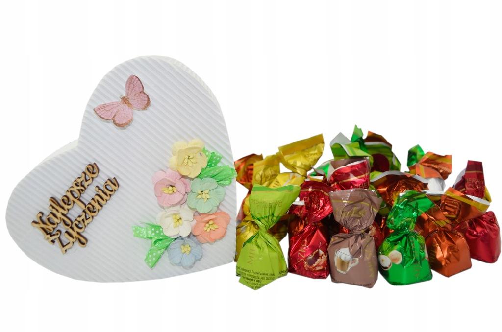 Serce Słodycze cukierki 400g Dzień Kobiet Prezent
