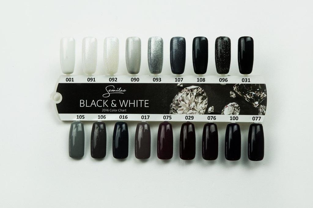 SEMILAC Wzornik ręcznie malowany BLACK & WHITE