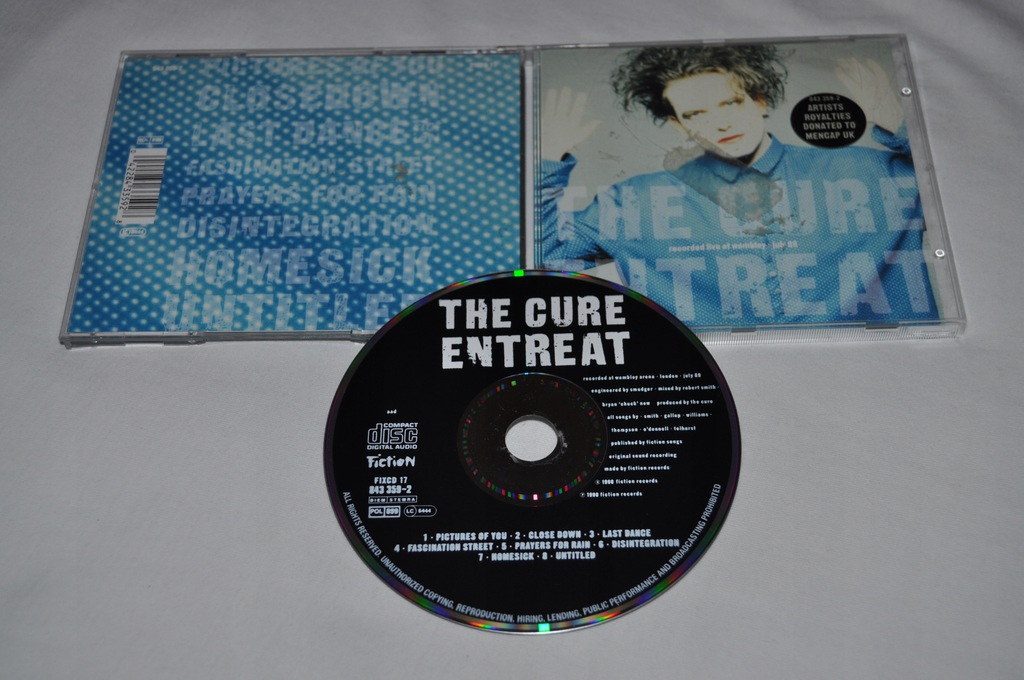 THE CURE - ENTREAT 1990R PRAWIE IDEAŁ CD