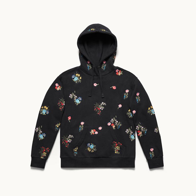 h&m czarna bluza w kwiaty