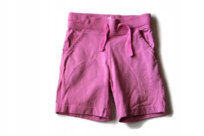 f561*H&M*Róż krótkie spodenki na gumce 86