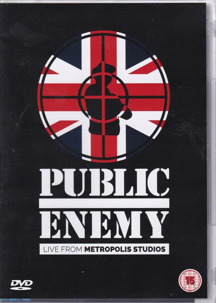 DVD- PUBLIC ENEMY- LIVE FROM METROPOLIS STUDIOS