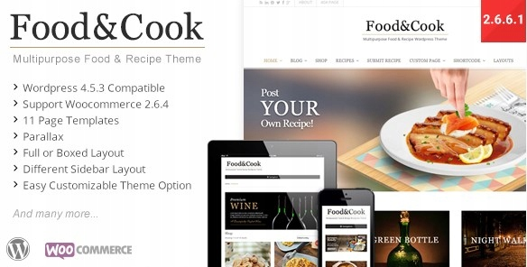 Szablon Themeforest Food & Cook Multipurpose