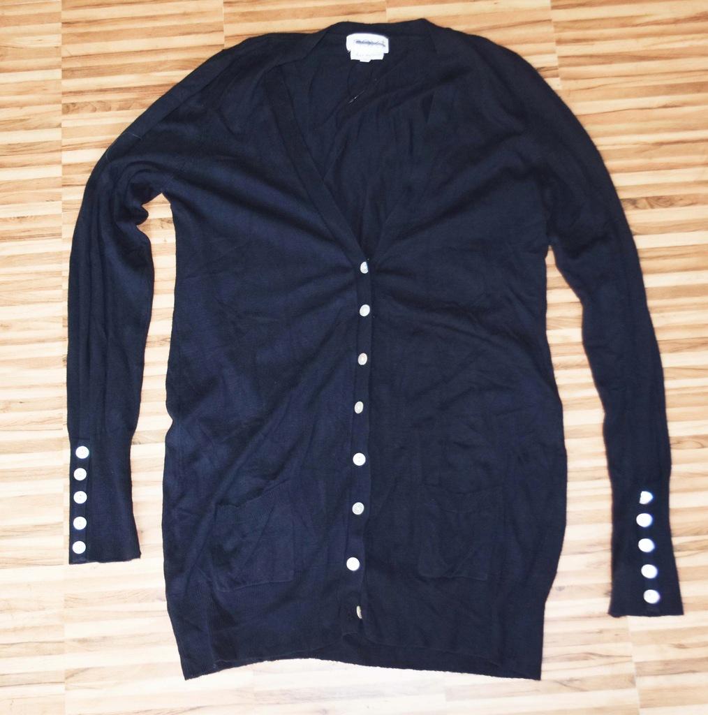 NEXT dług granatowy sweter rozpinany, UK 16 EU 44