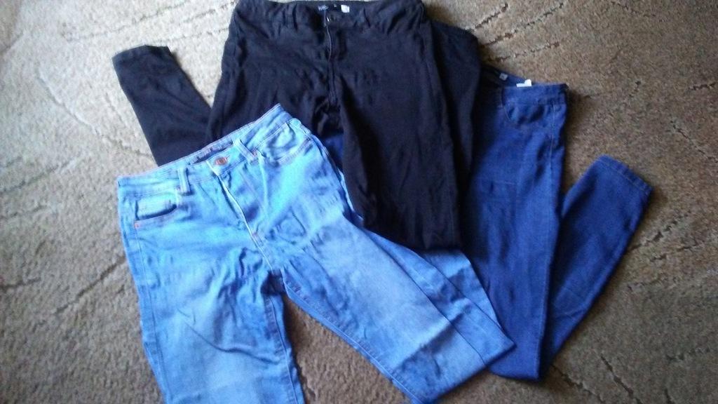 Mega Paka zestaw 4x spodnie jeans damskie rurki 36
