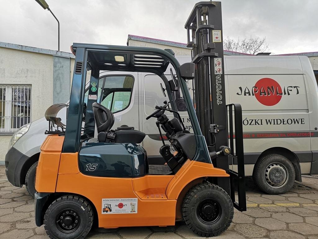 Wózek widłowy TOYOTA 7FGL15 1500 kg, LPG, Leasing