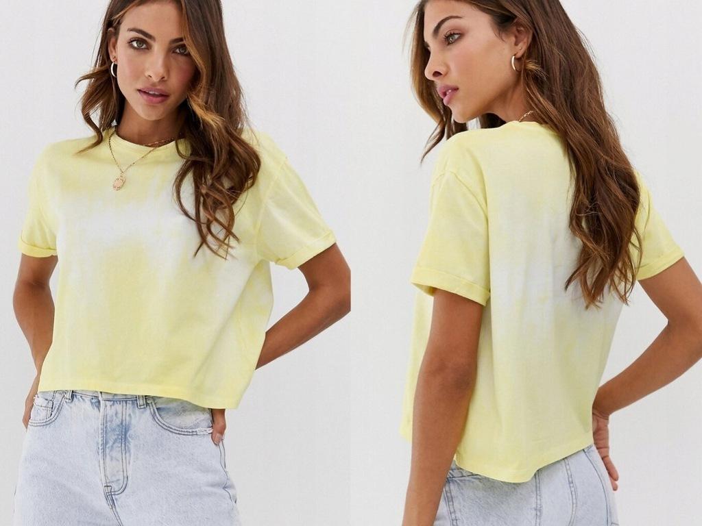 Stradivarius Klasyczny Żółty T-shirt S/36