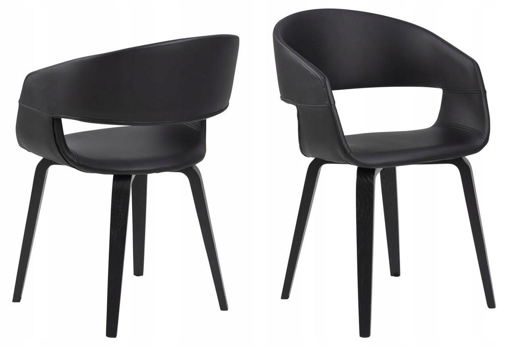 Krzesło do jadalni Nova czarny Actona
