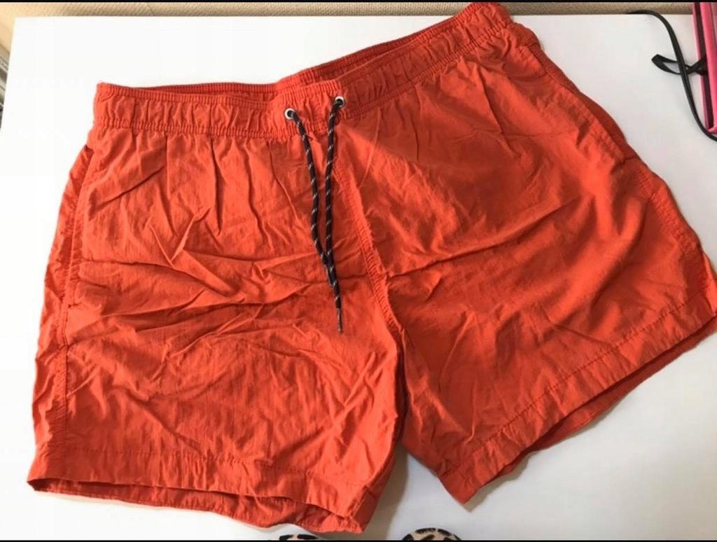 Nowe czerwone kąpielówki spodenki męskie L H&M