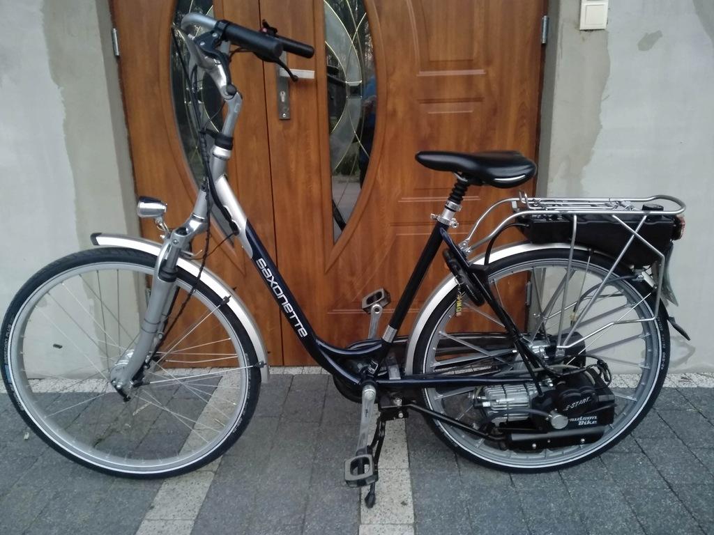 Rower z silnikiem spalinowym saxonette spartamet