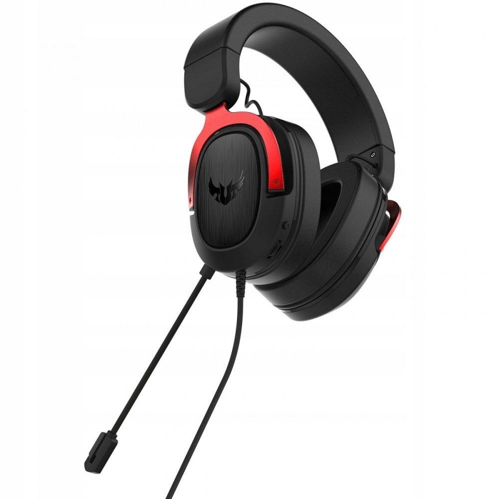 Słuchawki TUF Gaiming H3, czerwony, z mikrofonem