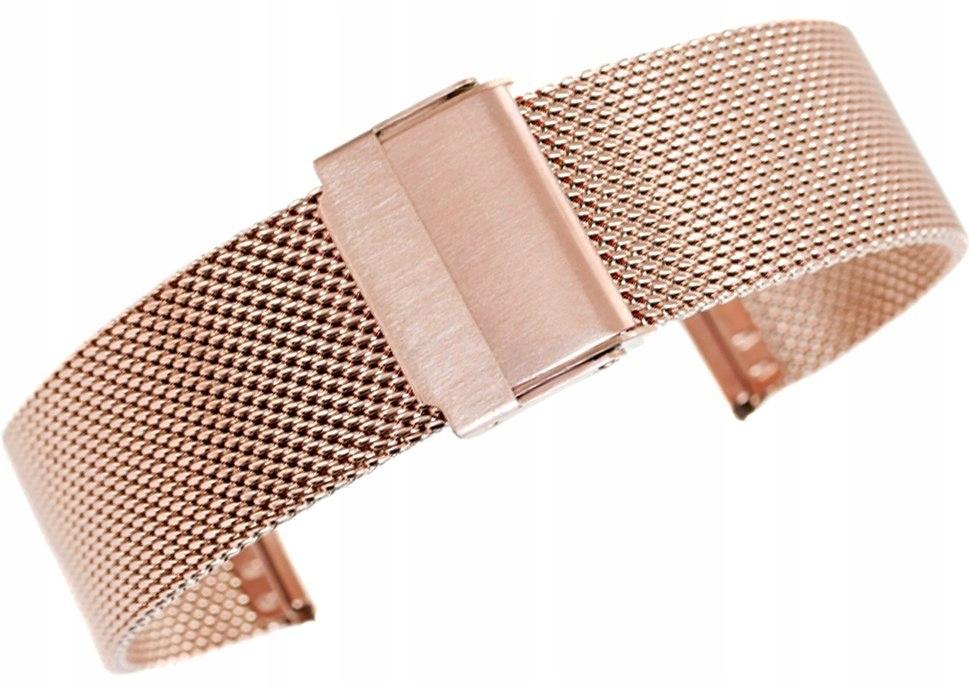 Bransoleta - Siatka Mesh Gold Rose PVD 20 mm gr 1,