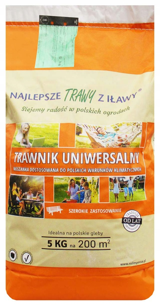 Trawy Z Ilawy Trawnik Uniwersalny 5kg Nasiona Traw 8036097048 Oficjalne Archiwum Allegro
