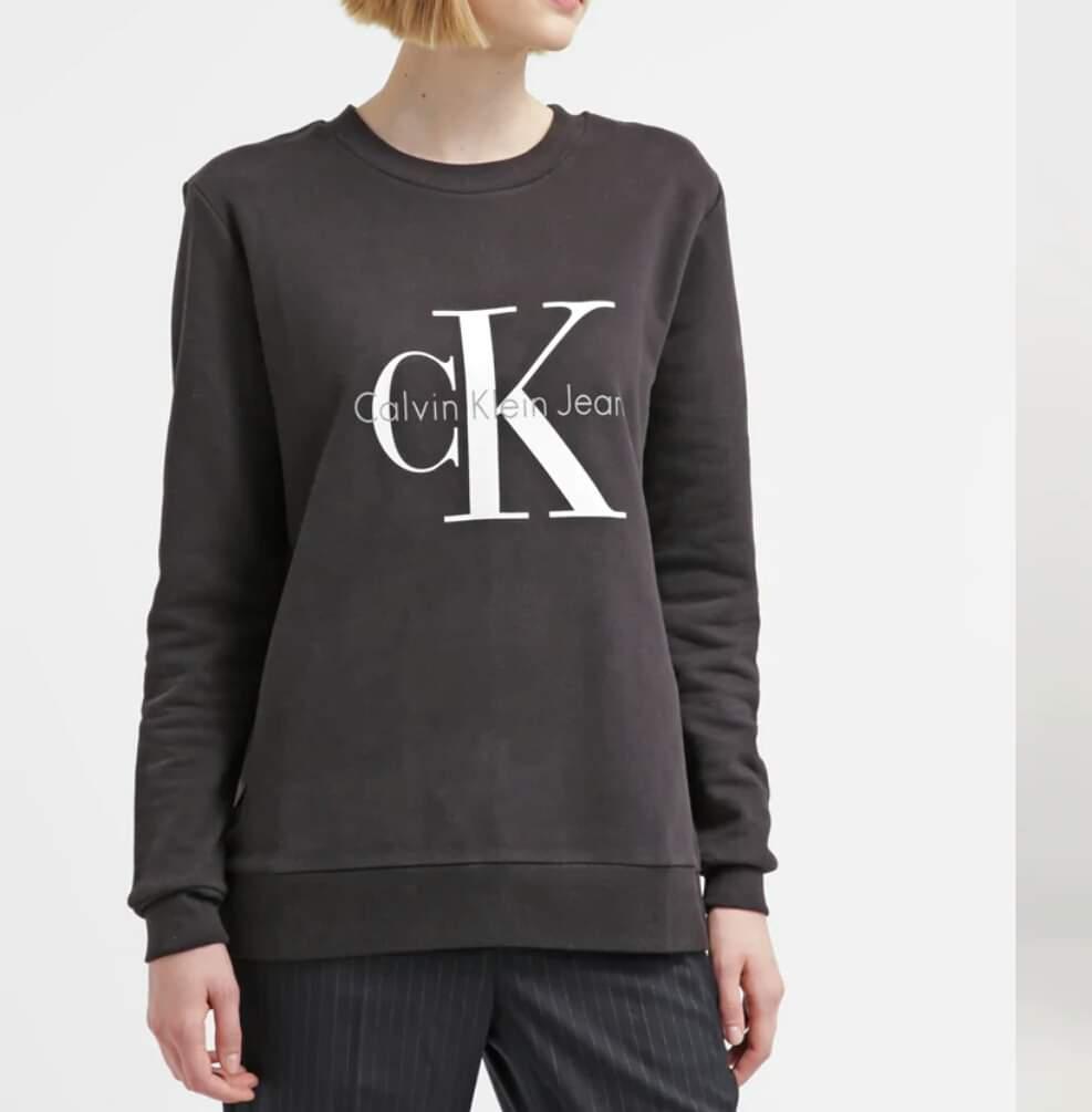 Bluza Calvin Klein Jeans S Grafit 100 Cotton 8366402568 Oficjalne Archiwum Allegro