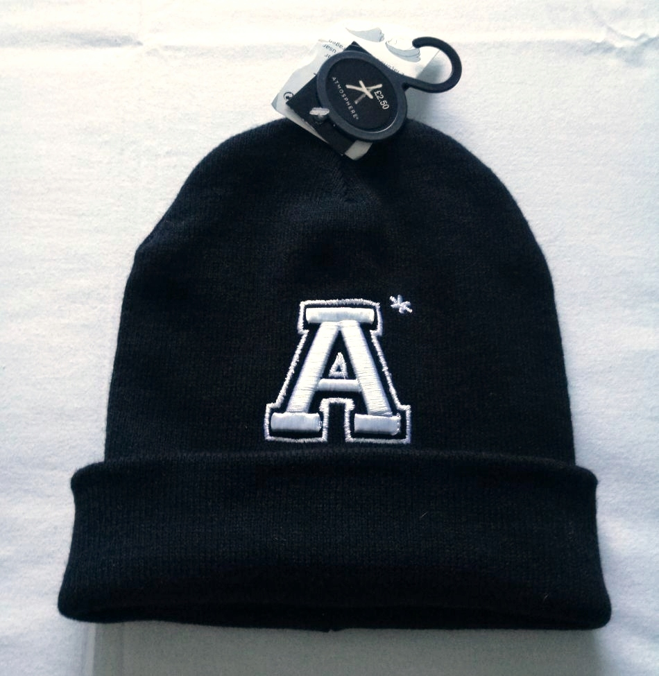 ATMOSPHERE czapka NOWA zima gruba ciepła czerń