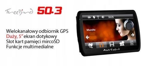 """Nawigacja GPS Lark FreeBird 50.3 PL 5"""""""