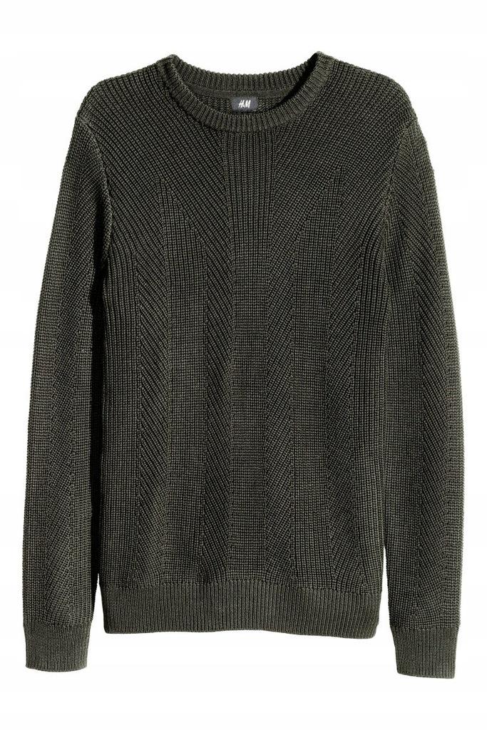 H&M Sweter o wzorzystym splocie XS Modern coll