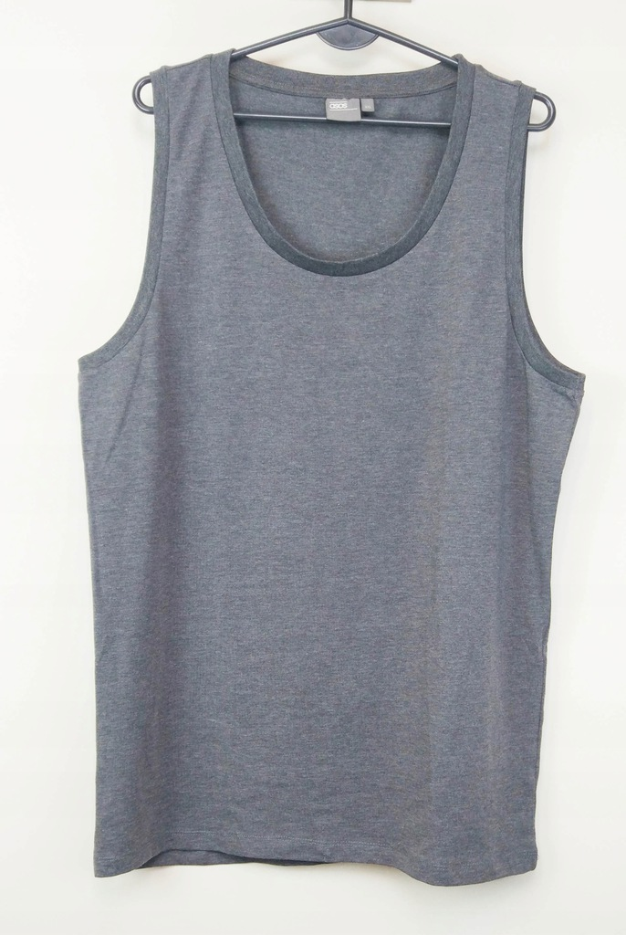 ASOS szara klasyczna koszulka bez rękawów XXL