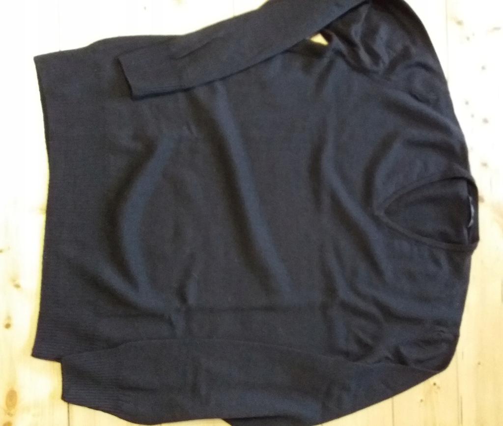 sweter Zara XL brąz czekolada