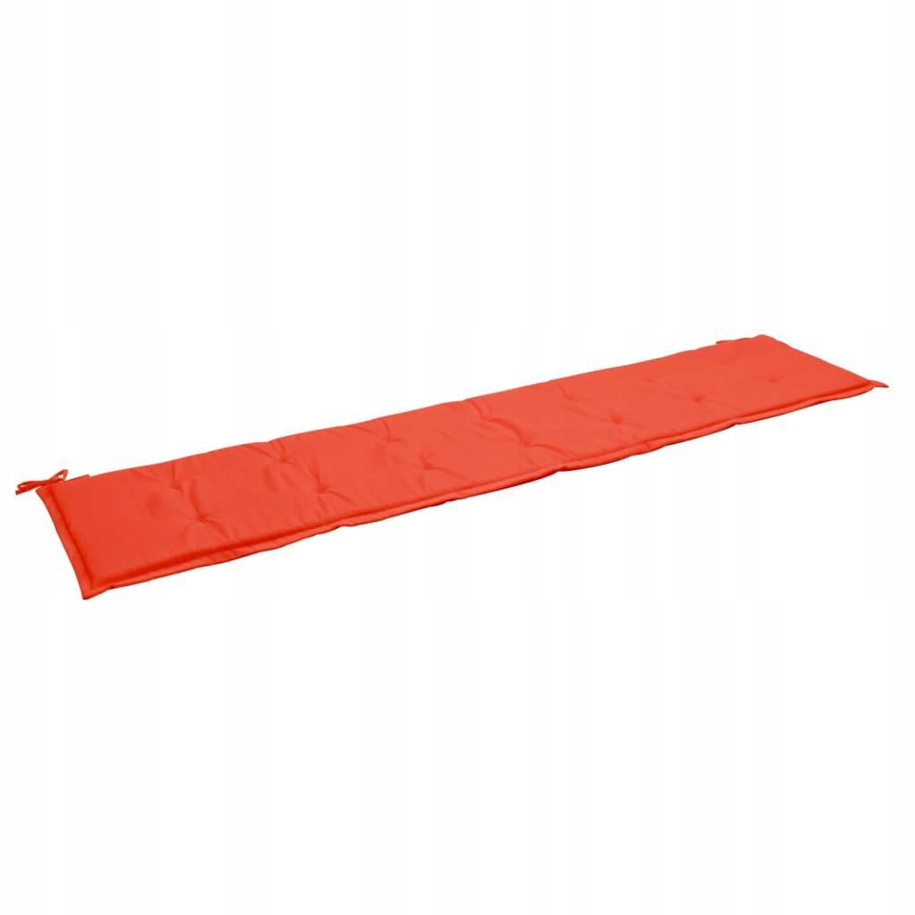 Poduszka na ławkę ogrodową, czerwona, 200 x 50 x 3