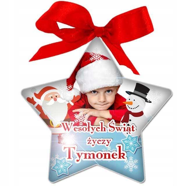 BOMBKA ze zdjęciem Gwiazdka prezent na Święta