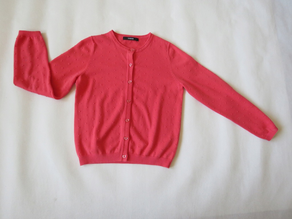 George - Super różowy sweterek - 134-140 cm, 9-10l