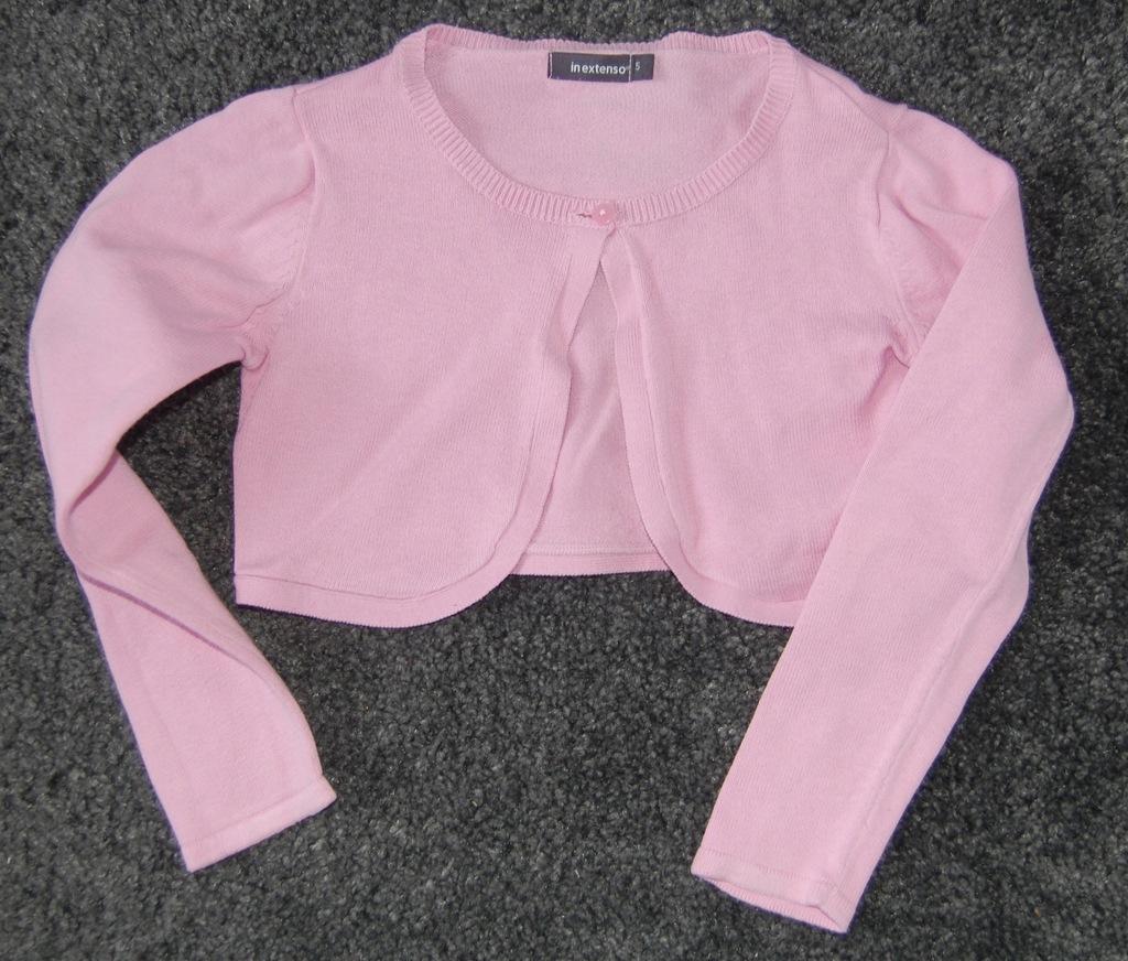 Różowy krótki sweterek, in extenso rozm. 110