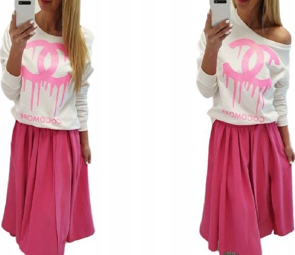 COCOMORE... Bluza Różowe CC Ecru M