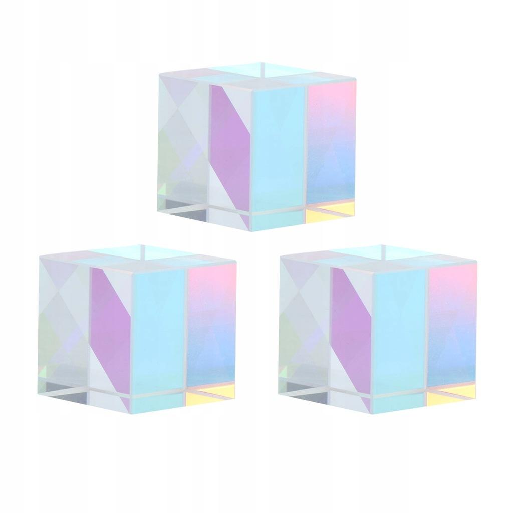 3szt Kostka pryzmatyczna ze szkła optycznego z dys