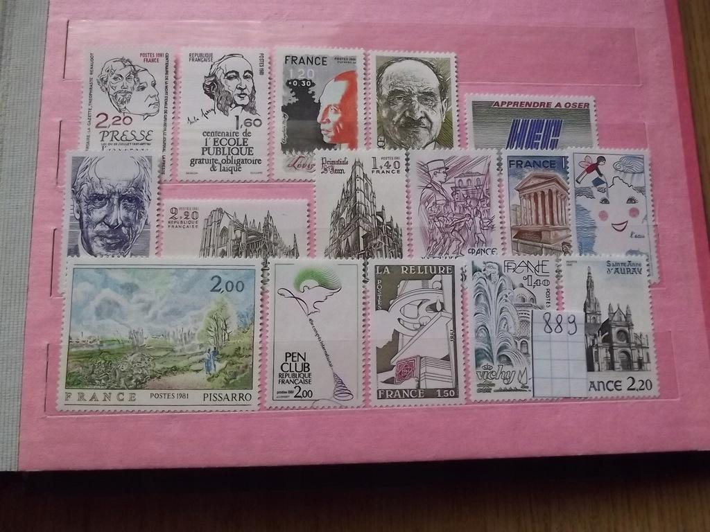 Francja zestaw znaczków **