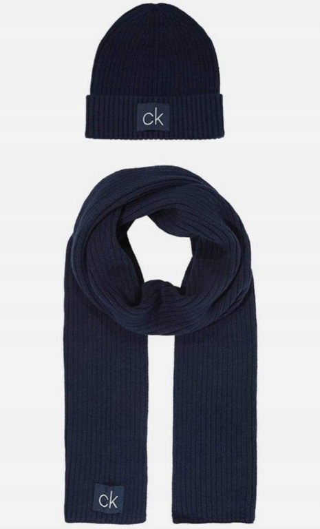Komplet zestaw czapka szalik Calvin Klein nowy