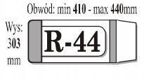 Okładka książkowa regulowana R44 (50szt) IKS