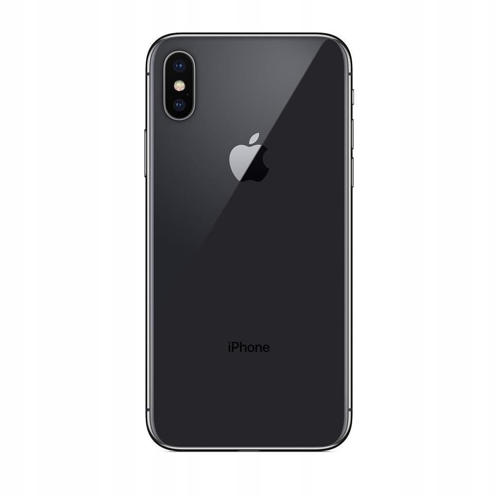 Apple iPhone X czarny 256 GB Klasa A