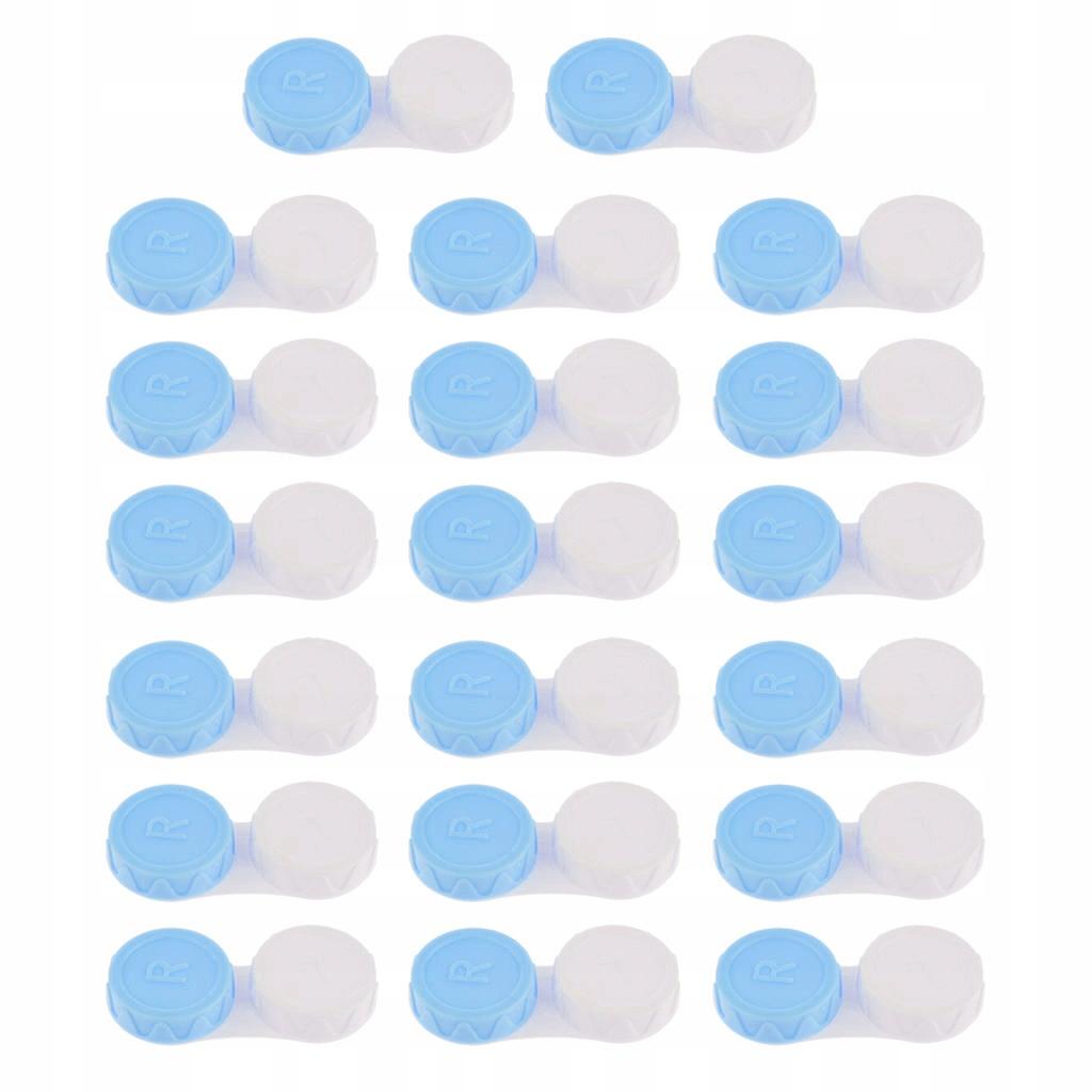 Mini futerał na soczewki kontaktowe - Niebieski