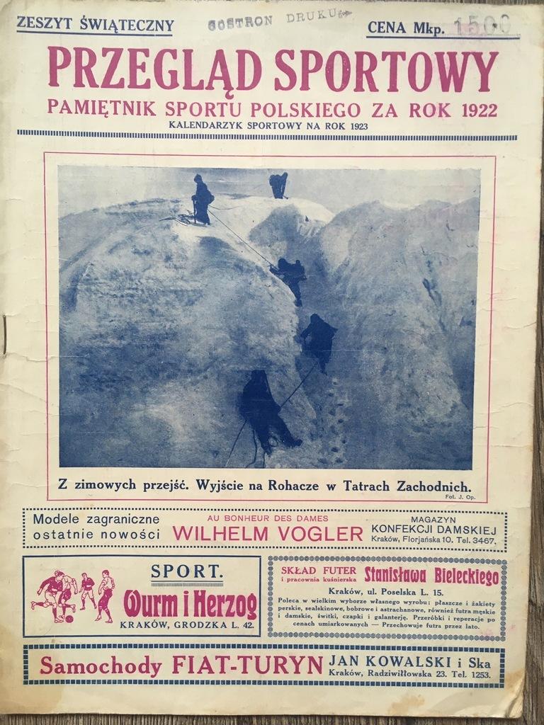 Przegląd Sportowy Pamiętnik za 1922 lic. 1 zł