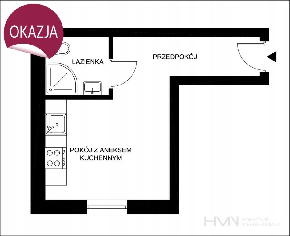 Mieszkanie, Kraków, Bronowice, Bronowice, 19 m²