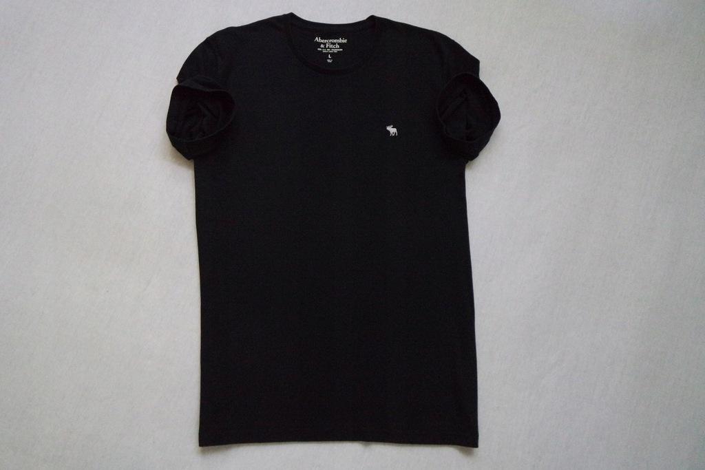 ABERCROMBIE FITCH koszulka t-shirt czarna logo___L