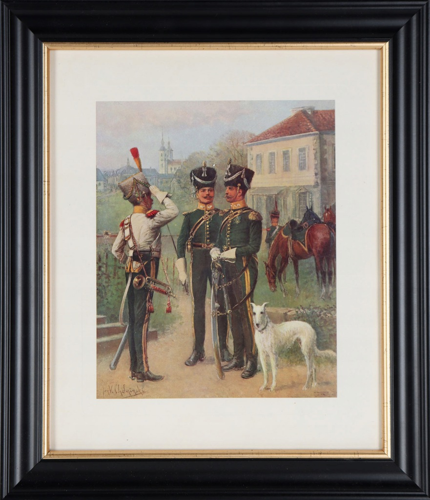 J.Chełmiński 'Ułani Księstwa Warszawskiego' 1913