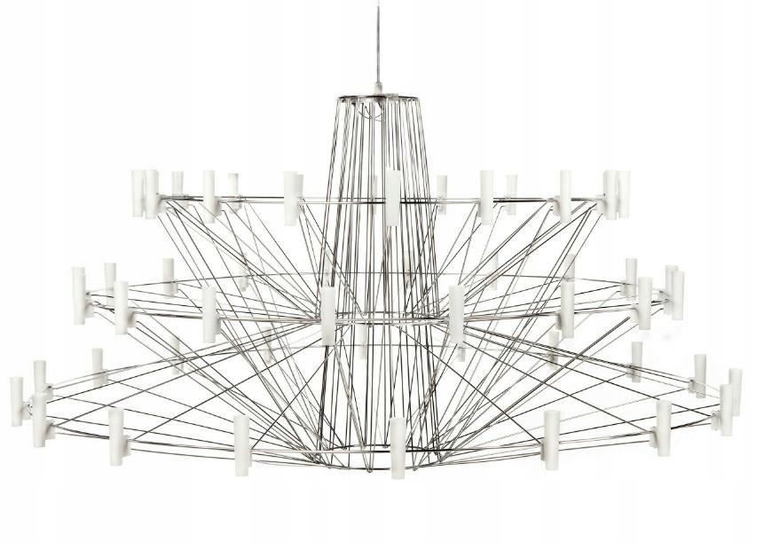 Lampa wisząca BALLERINA chrom - LED, włókno szklan
