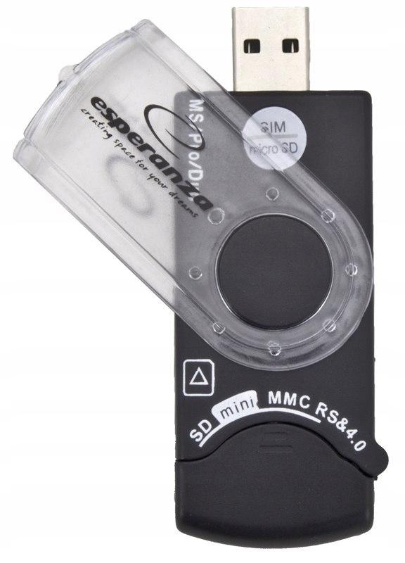 CZYTNIK KART PAMIĘCI ALL IN ONE + SIM EA118 USB 2.