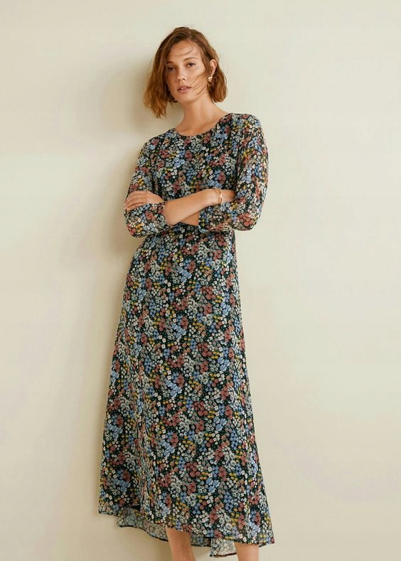 Trendy sukienka Mango casual zwiewna r. L - 42