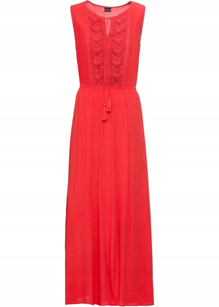 U309 BPC Długa sukienka z haftem r.44