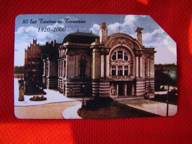 karta 80 lat Teatru w Toruniu 2000 r.